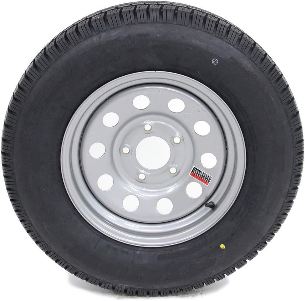 Load C 5 Lug White Mod 2-Pk eCustomrim Trailer Tire On Rim ST205//75D14 14 in