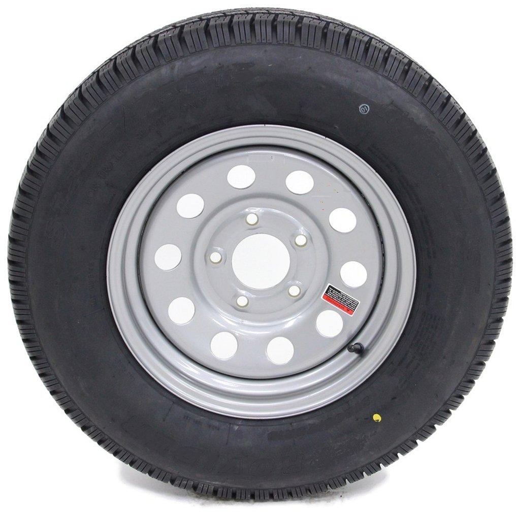 Radial Trailer Tire On Silver Rim ST225/75R15 LRD (5 Lug On 4.5'') Modular Wheel