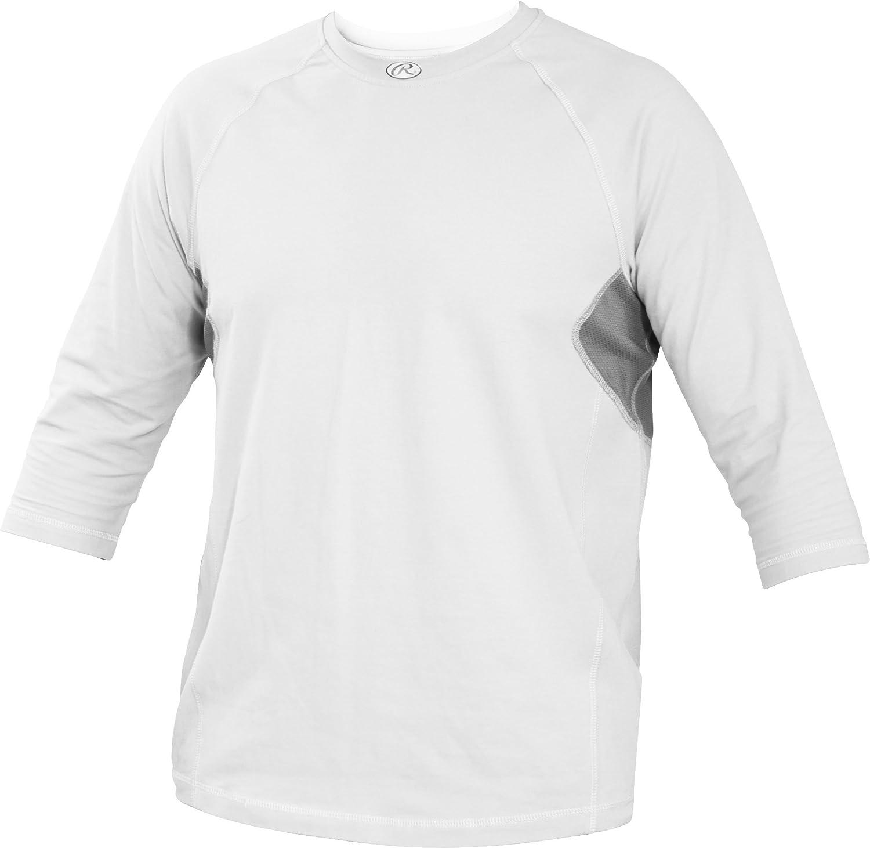 Rawlings Youth 3 / 4スリーブパフォーマンスシャツ B013I2KBGOホワイト XL