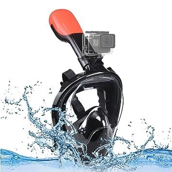 f8edfb9d4a9fb4 INMUA Masque de plongée, Plein Visage 180°Visible Snorkeling Masque, Anti  buée et