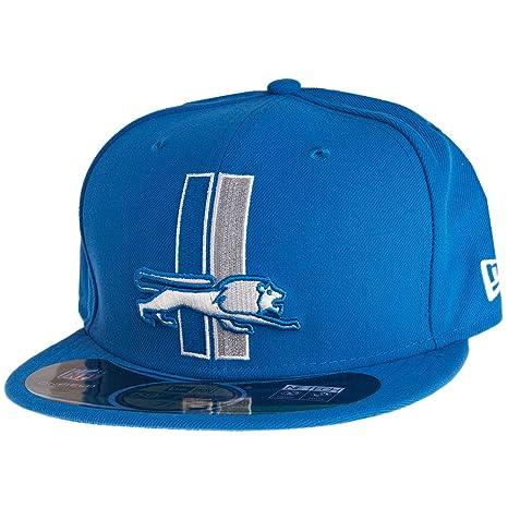 New Era 59FIFTY - Gorra, diseño de los Detroit Lions, Color Azul ...
