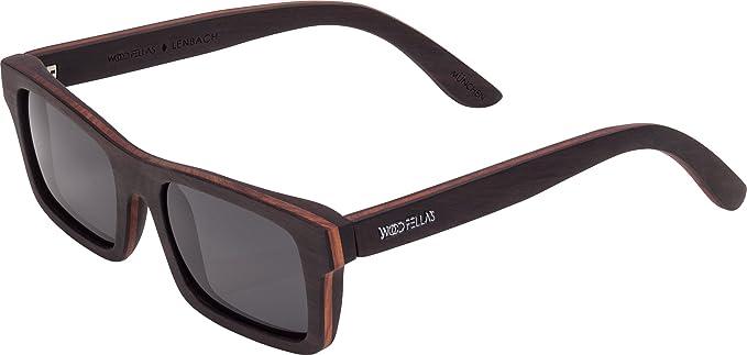 Wood Fellas Unisex Holz-Sonnenbrille Säbener Braun One mit polarisierenden Gläsern in verschiedenen Farben nvuDTVMc0G