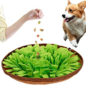 DCTOY Dog Feeding Mats Snuffle Mats, Dog Training Mats Dog Puzzle Toys, Nosework Blanket Pet Snuffle Bowl Cat Snuffle Mat for Cats Dogs,Activity Fun Play Mat for Relieve Stress Restlessness