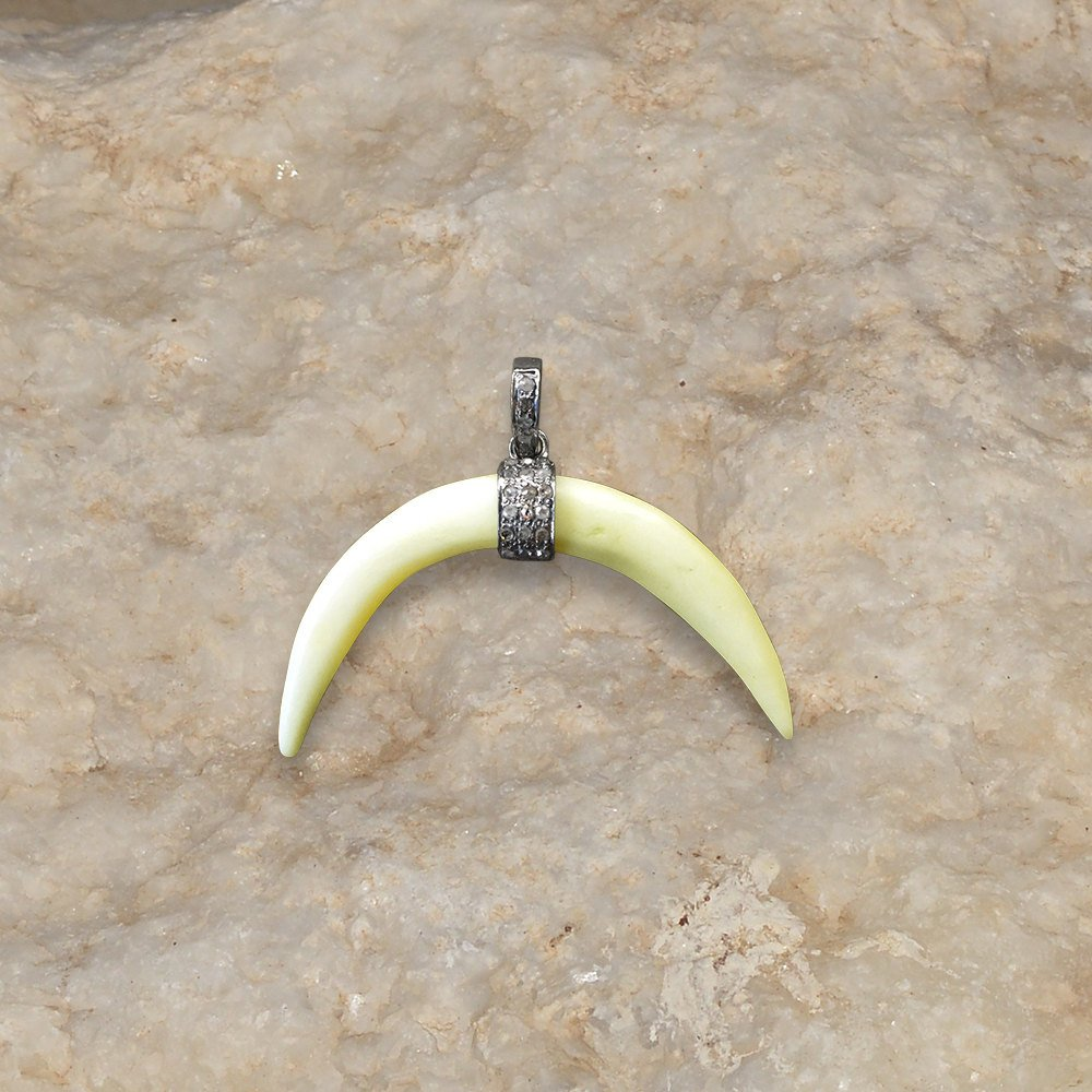 New designer bakelite horn pendant jewelry 925 sterling silver jewelry