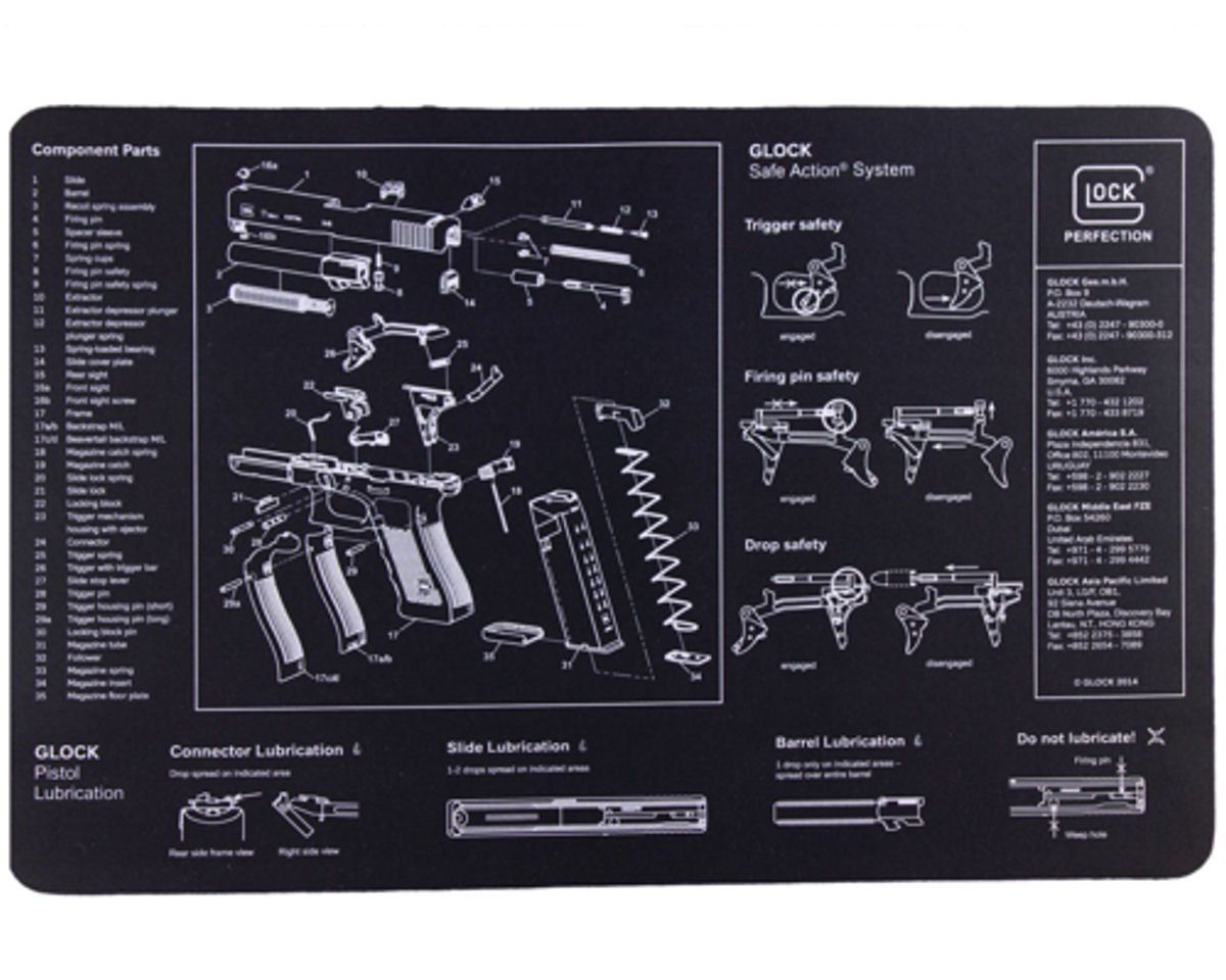 Amazon.com : Glock Bench Mat : Gunsmithing Tools And Accessories : Sports & Outdoors
