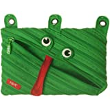 ZIPIT Animals 3-Ring Pencil Case, Frog