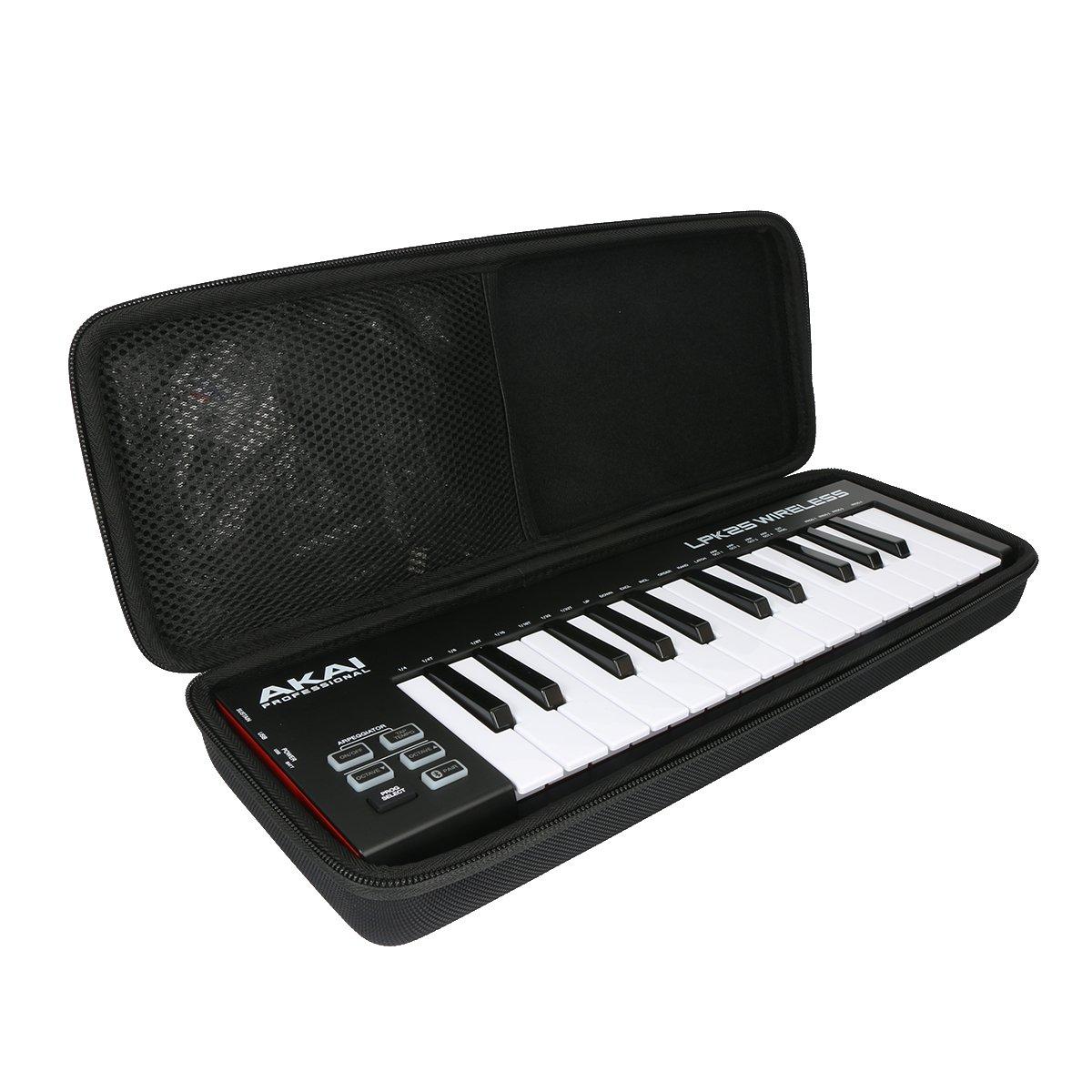 Khanka Hard Case for Akai Professional Akai Professional LPK25 WIRELESS | 25 Mini-Key Bluetooth MIDI Keyboard by Khanka
