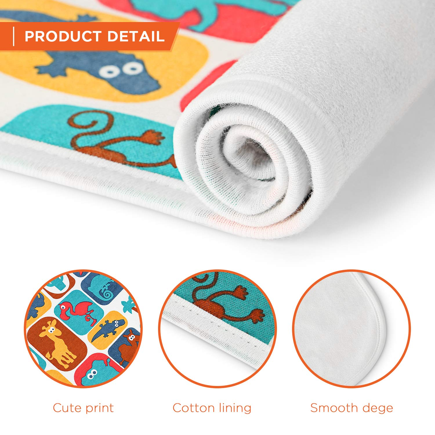 Printed Changing Baby Diaper Pad Waterproof Pad Baby 70x100cm Mifiatin Soft Urine Pads Absorbent Blanket Sheet Bed Pads Mattress Change Mat Incontinence Pads for Infant and Adults Dinosaur