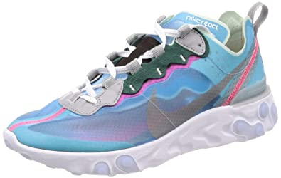 new product 6f3ee 3aacb Image Unavailable. Image not available for. Color  Nike React Element 87  Royal Blue Tint AQ1090-400 ...