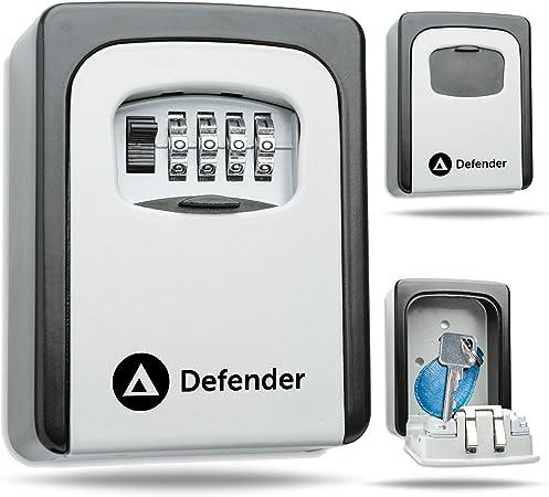 Defender - Caja de seguridad para llaves (montaje en pared, combinación aprobada por la policía): Amazon.es: Hogar