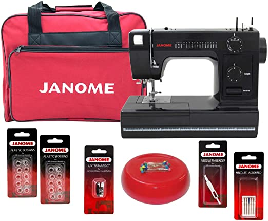 Janome HD1000 máquina de coser Black Edition con paquete de bono ...