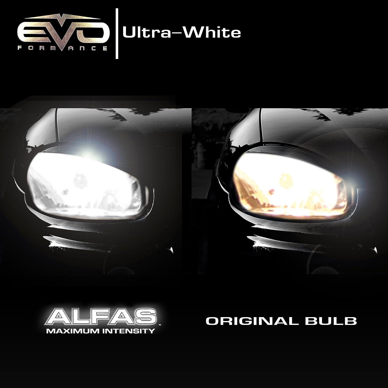 Twin Pack Cipa USA XXX93444 CIPA 93444 EVO Formance Alfas Maximum Intensity H7 Ultra White Halogen Bulbs