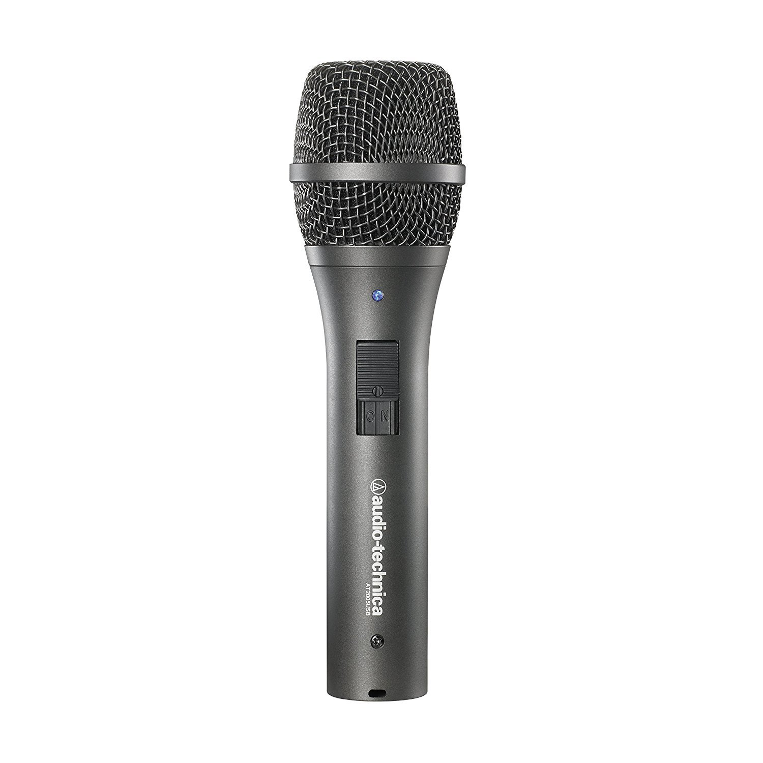 Audio Technica AT2005USB Dynamic Cardioid Microphone with USB//XLR Outputs Bundle with Blucoil Pop Filter and 10-Ft XLR Cable