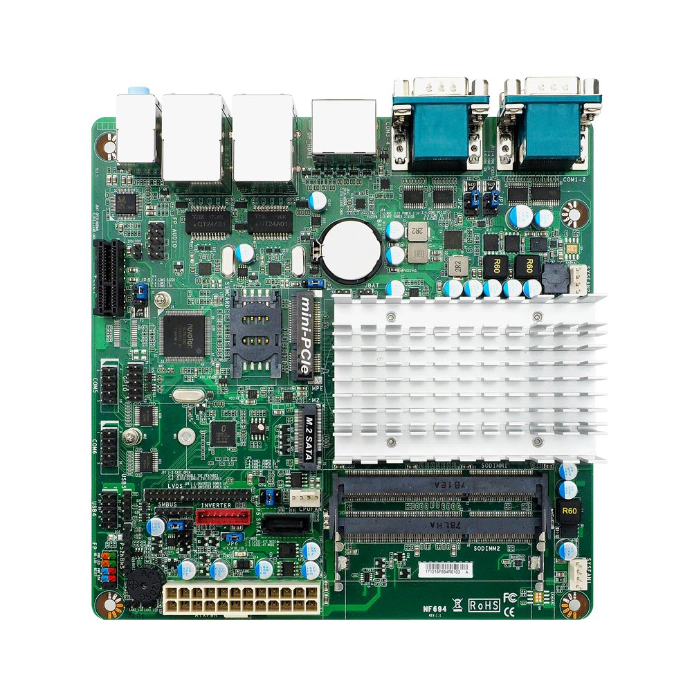 Jetway JNF694-3350 Motherboard w/Intel Apollo Lake Celeron N3350 Dual Core Processor, 4x Serial Ports, Dual GbE LAN by Jetway (Image #2)
