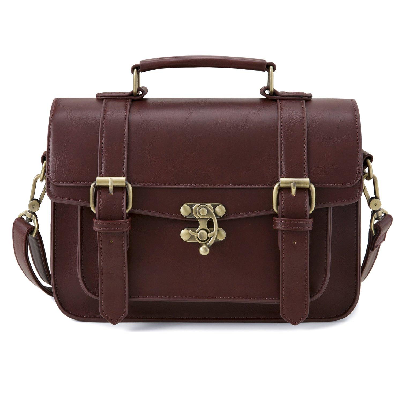 ECOSUSI Vintage Umhängetasche Damen Messenger Bag Handtasche