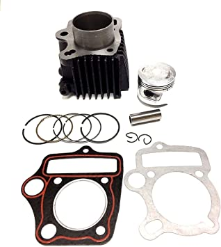 47mm Bore Cylinder Head Piston Kit for 70cc Engine ATV Dirt Bike Go Karts