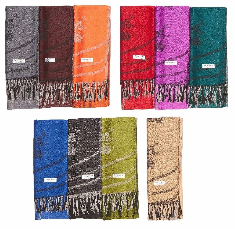 12 100% Soft Women Scarf Shawl Stole Wrap Fashion Lot