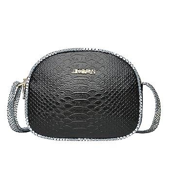 OVERMAL Vintage Women Hit Color Crocodile Pattern Leather Crossbody Bag Shoulder Bag