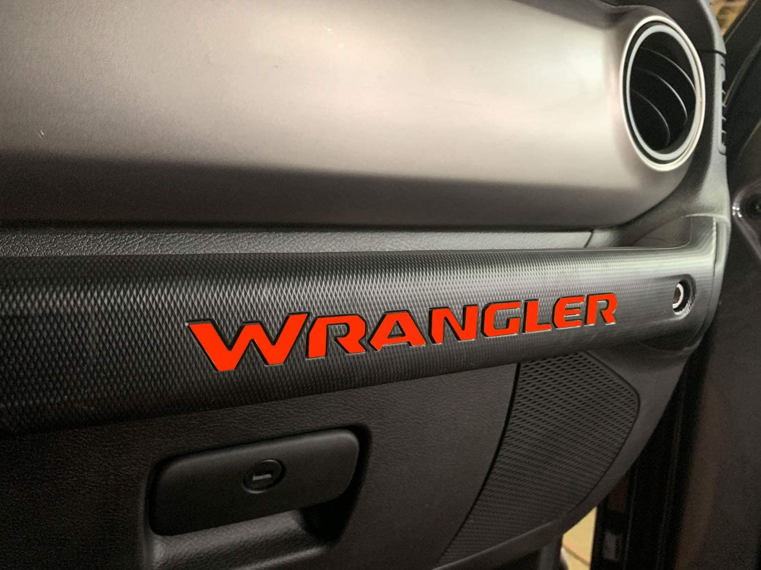 Glovebox ABS Inserts Not Decals Red Dashboard Letters for Wrangler 2018 SF Sales USA