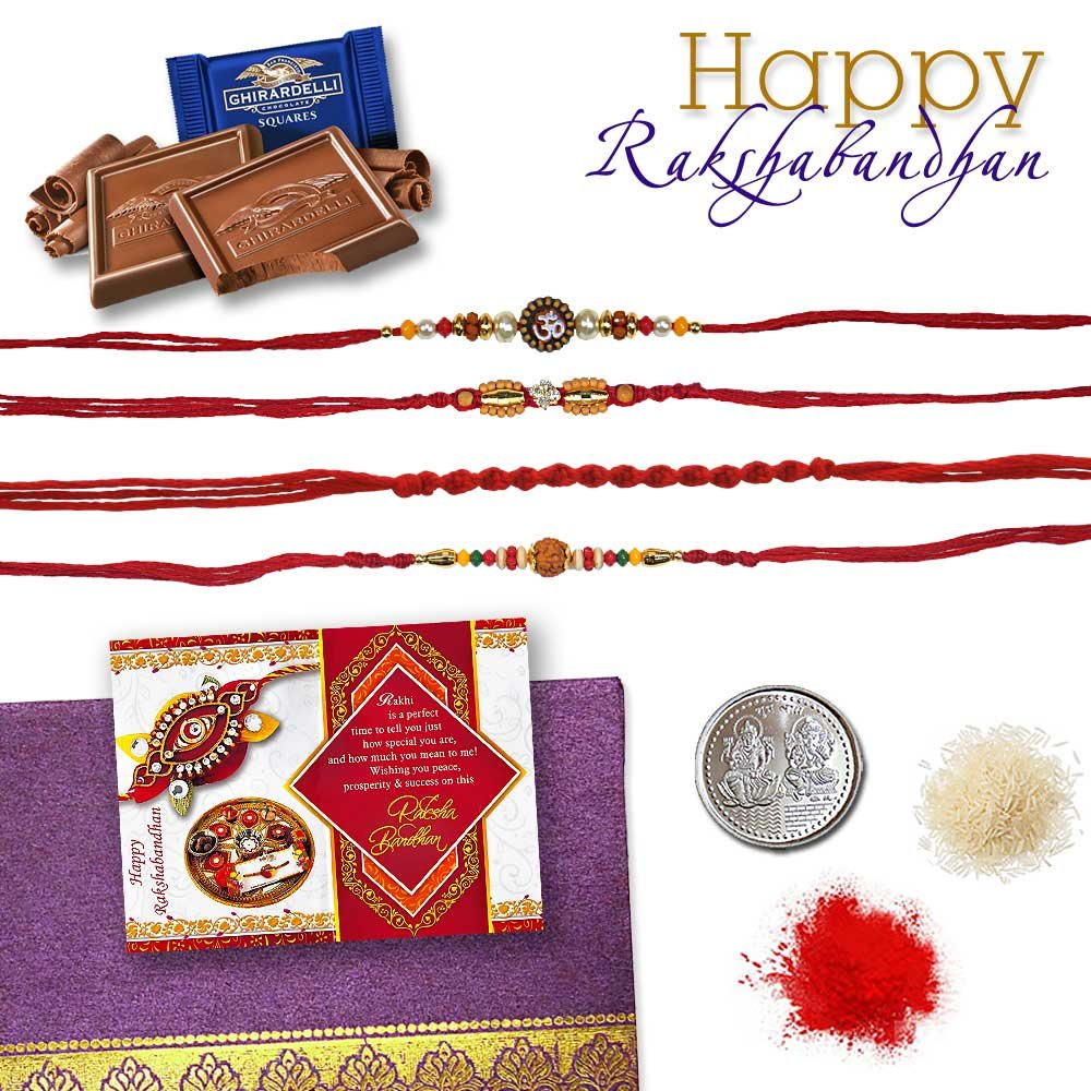 SnapGalaxy 4 Rakhi Set Chocolates RKC25