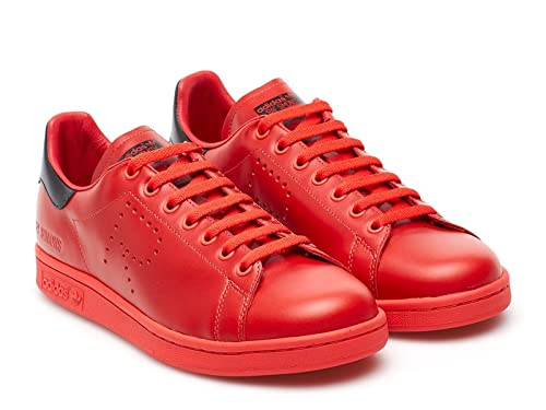 photos officielles 62d0b c29f6 adidas Originals Baskets RAF Simons Stan Smith Rouge Noir Homme