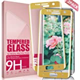 Galaxy S7 Edge Screen Protector Aonsen,Full Screen Coverage (2 Pack Gold) Scratch Resistant Ultra HD Clear Tempered Glass Screen Protector for Galaxy S7 Edge
