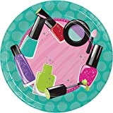"""Creative Converting Sparkle Spa Party! Sturdy Style Icons Paper Dessert Plates (8 Count), 7"""""""