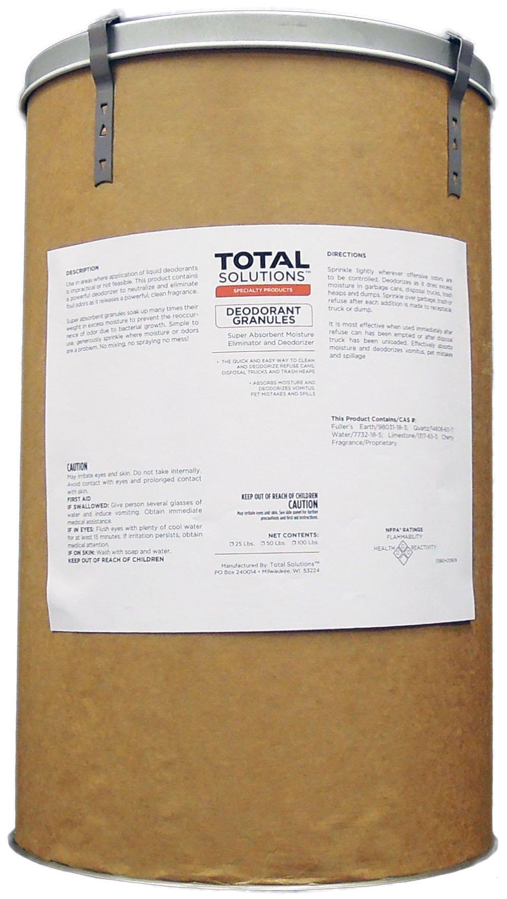 DEODORANT GRANULES   Super Absorbent Moisture Eliminator and Deodorizer (25 lbs)