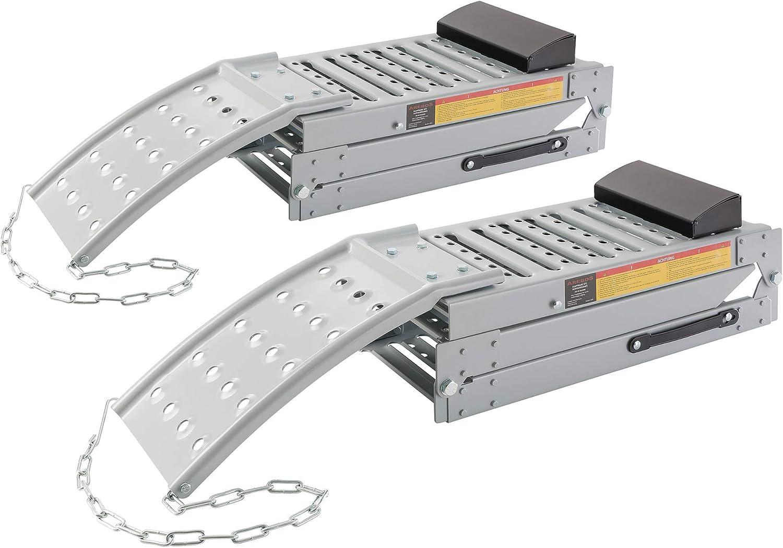 Asina Rampes de Chargement Pliables Rail Antid/érapant Rampe Robuste en Aluminium Capacit/é Jusqu/à 340kg par Rampe pour Remorques de Moto Caravanes Van Cars Type A, 1 pi/èce