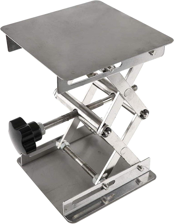 1PC Silver Jack Lift Table Mesa de Soporte de Acero Inoxidable Mesa de elevaci/ón de Tijera