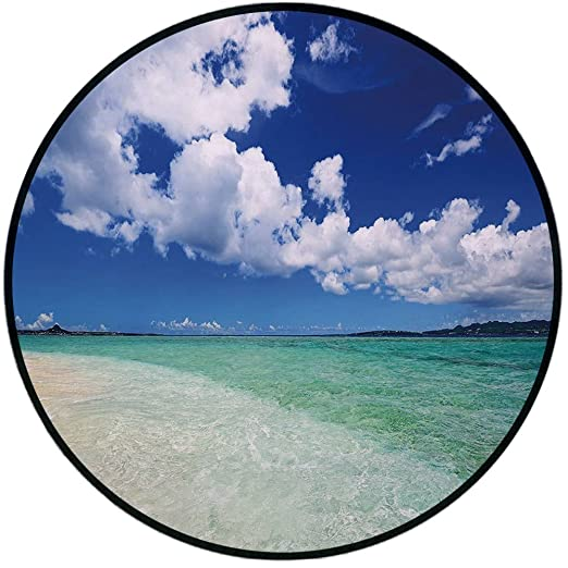 Alfombra redonda para puerta, diseño de hadas sobre el mar con las ...