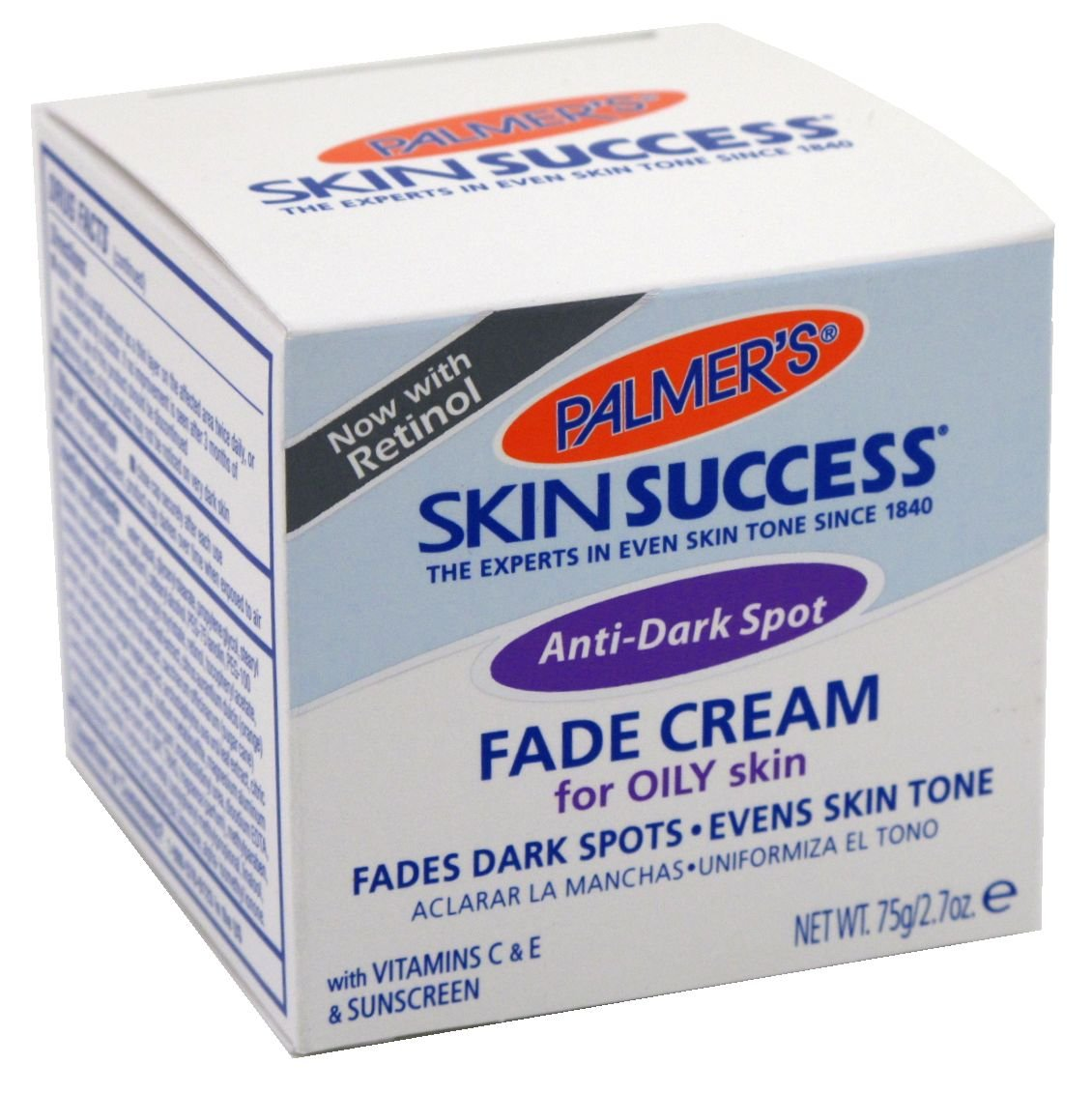 Palmers Anti-Dark Spot Fade Cream Oily Skin 2.7oz Jar (6 Pack)