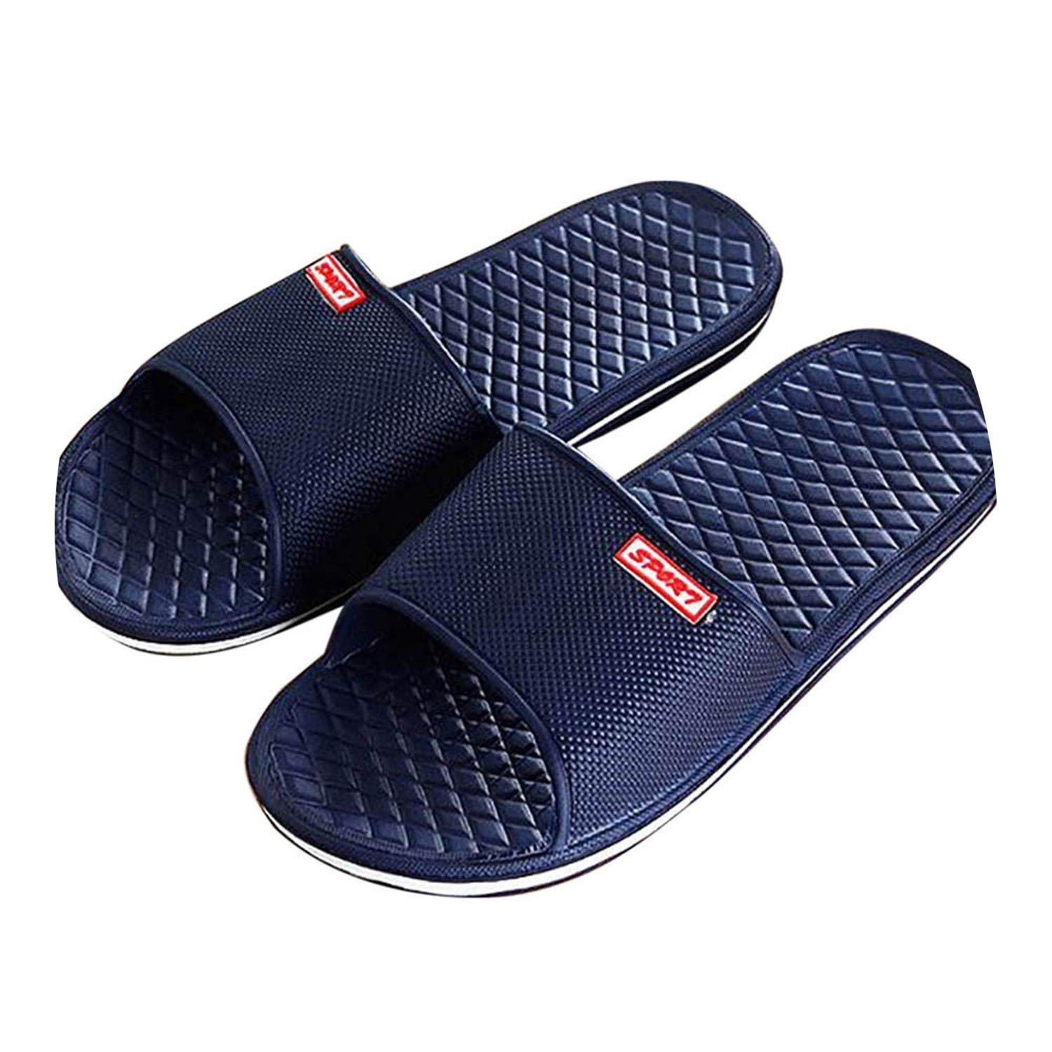 Casual Slippers Shoes for Men Solid Flat Bath Slippers,B,42,China