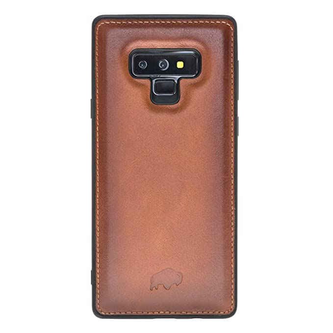 low priced ce2f6 cee8c Samsung Galaxy Note 9 Leather Case by Burkley, 360 Degree Leather Snap On  Back Cover for Samsung Galaxy Note 9 | All Side Protection | Hand-Wrapped  in ...