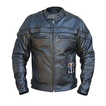Australian Bikers Gear Chaqueta Sturgis Monza de moto para hombre en cuero con Protecciones TALLA 6XL: Amazon.es: Coche y moto