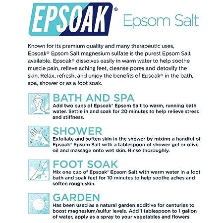 Amazon Epsoak Epsom Salt 15 Lb Canister Usp Magnesium