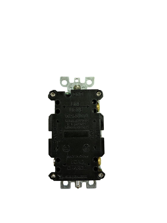 KLIM Pack of 5 15 Amp Tamper Weather Resistant WTR GFCI LED outlet w//Wallplate UL2015