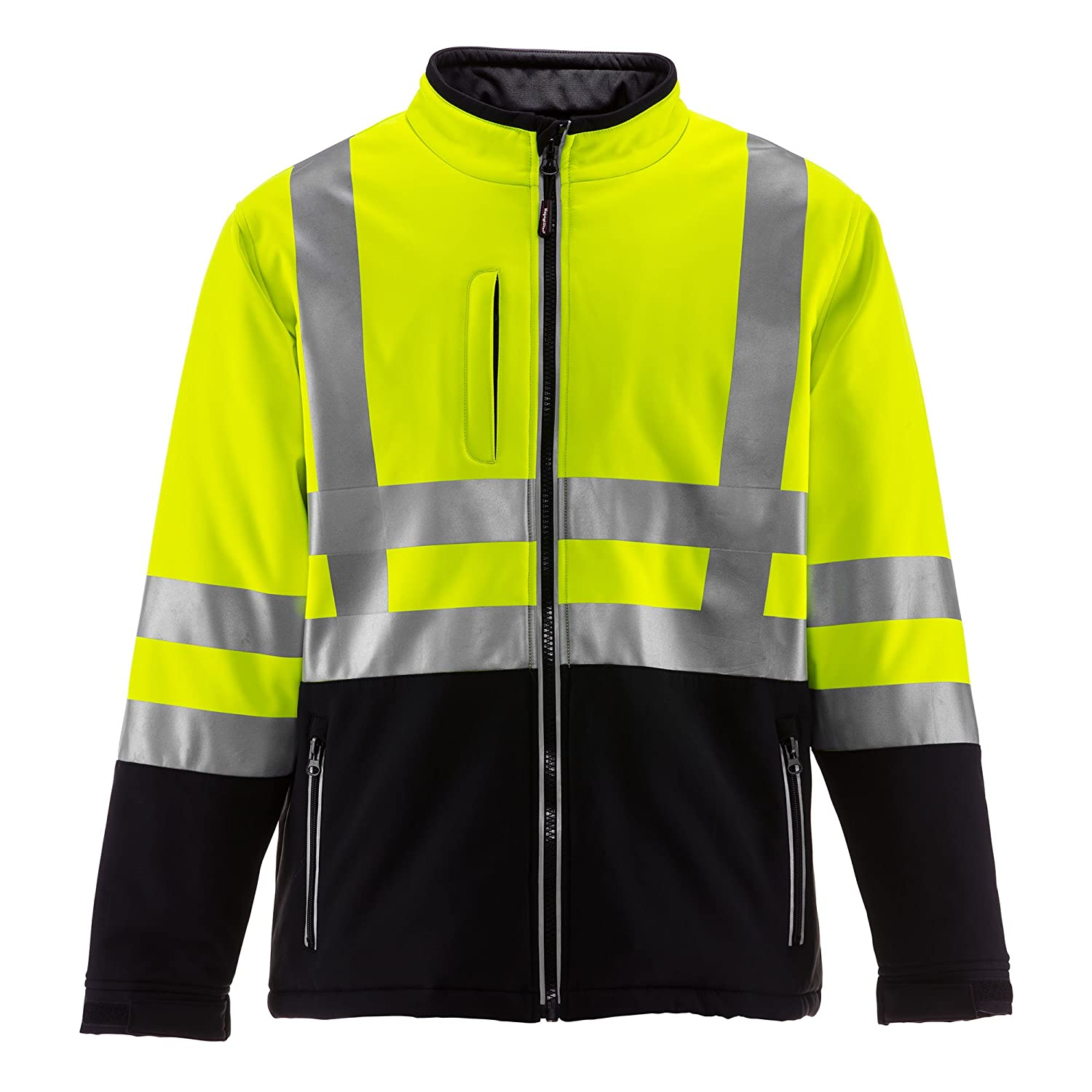 8f15c602f RefrigiWear Men's Hivis Insulated Softshell Jacket - ANSI Class 2 High  Visibility with Reflective Tape