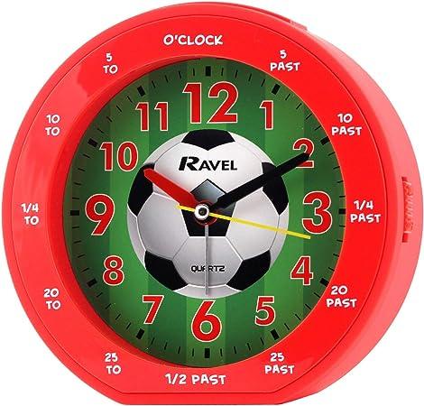 RAVEL RED FOOTBALL DESIGN TIME TEACHER LEARNING CHILDREN ALARM CLOCK