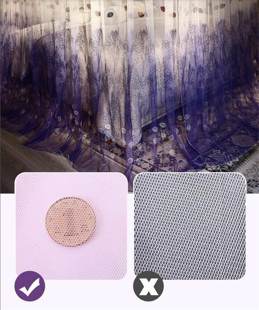 Retractable u-Type Mosquito net Anti-Mosquito Insect net Travel Mosquito net Outdoor Mosquito net Indoor Mosquito net Bedroom Decoration, Purple, L (120-245Adjustment) W180cm by RFVBNM Mosquito net (Image #5)