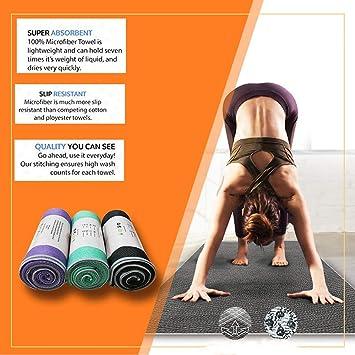 YOOMAT Toalla de Yoga Antideslizante Estera de Yoga Caliente ...