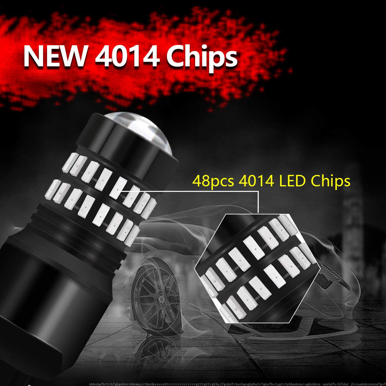 KaTur Extremely Bright 1200LM 4014SMD 48-EX Chipsets 1156 BA15S 7506 1095 1141 LED Bulbs with Lens Projector Brake Turn Signal Tail Backup Reverse Lights Pack of 10 Xenon White 6500K DC 12-24V