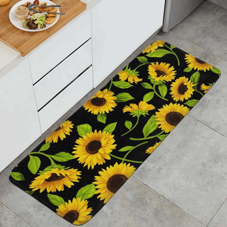 Sunflower Floral Art Anti Fatigue Kitchen Mat Water Absorbing Rugs Non Slip Kitchen Rug Kitchen Rugs Mats Kitchen Table Linens Ekbotefurniture Com