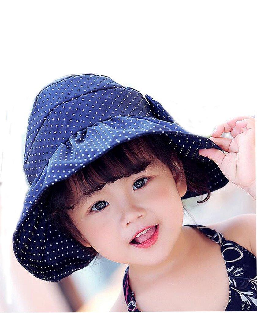 Mo-Magic Kid Baby Summer Hat Baby Sun Hat Wide Brim Sun Protection Hat Open Top Hat