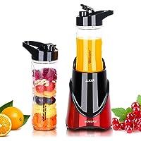 Mixeur Blender Portable à Smoothies Fruits 350W HOMEASY Mini Blender Personnel Milk-Shake Multifonction 3en1 Jus Frais pour Emporte Sport Voyage Enfant RECETTE offert - ROUGE RUBIS