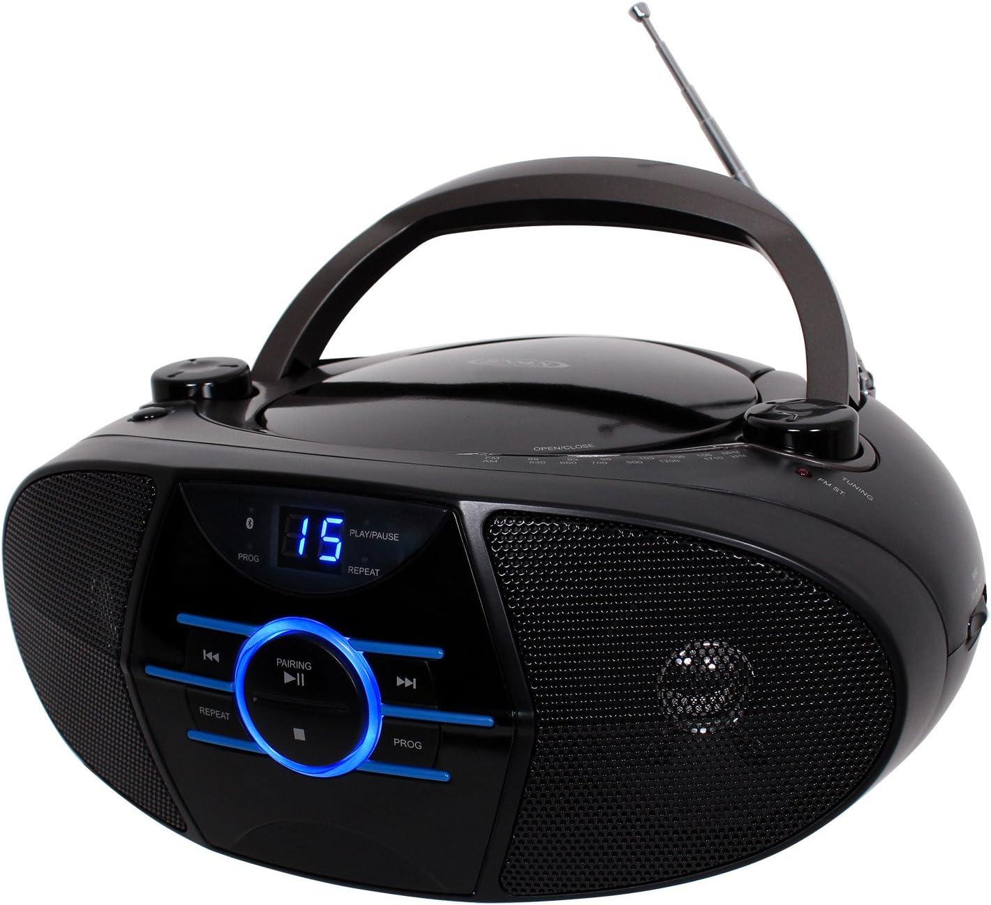 Bluetooth Jensen Portable Bluetooth Music System with CD Player Aux FM radio