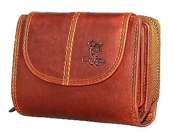 5a45b5f712d9af MATADOR Echt Leder Damen Portemonnaie RFID Schutz 12 Fächer Vintage Braun Frauen  Geldbörse