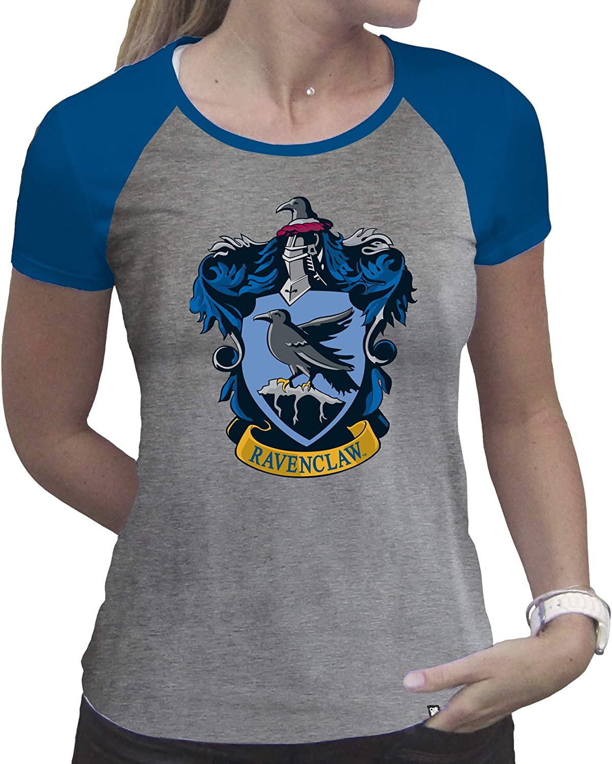 ABYstyle - Harry Potter - Camiseta - Ravenclaw - Mujer - Gris y Azul - Premium