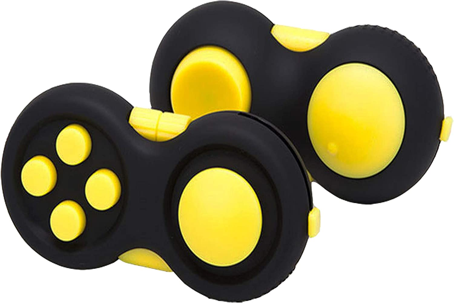 Anxiety and Stress Relief 9 Fidget Features Prime Ready and Shipped by ADHD Multi Color Rainbow on Black Perfect for Skin Picking ADD glacely 3pack Fidget Pad
