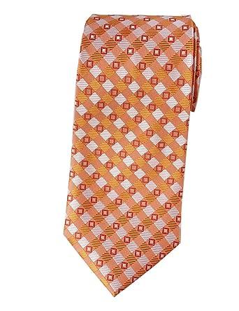 Towergem Extra Larga Corbata de Poliéster XL Naranja Hombre ...